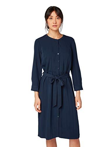 TOM TAILOR Damen Blusen Kleid, Blau (Sky Captain Blue 10668), (Herstellergröße: 40)