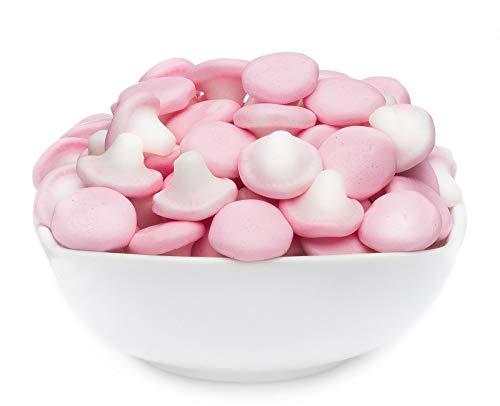 1 x 600g Premium Pilz Schaumzucker Pilze Fruchtgummi rosafarbene Pilze glutenfrei laktosefrei