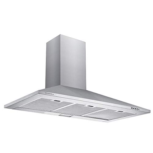 CIARRA CBCS9201 Stainless Steel Chimney Cooker Hood 90cm Range Hoods 900mm...