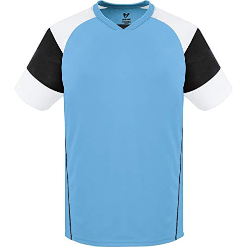 High Five Sportswear XS Jersey, Columbia Blue/Black/White