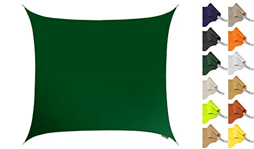 Kookaburra Sonnensegel Wasserabweisend 5,4m Quadrat Grün