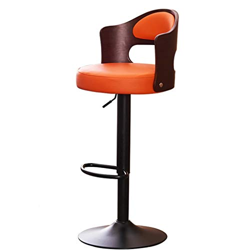 C-J-Xin Ontvangststoeltent, zwart, metalen standaard voor koffiestoelen met hoge stang met voetensteun, zithoogte 60 tot 80 cm, decoratieve kruk