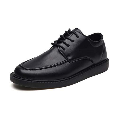 Robuuste Oxford-schoenen, modieus, business Oxford voor heren, formele werkkleding, met veters in Britse stijl, microvezel, voor bruiloft, modieus, duurzaam