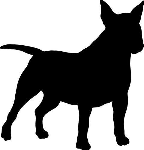 Miniatur Bullterrier - Hundeaufkleber - Farbe und Umrandung oder Text wählbar - Dog Sticker