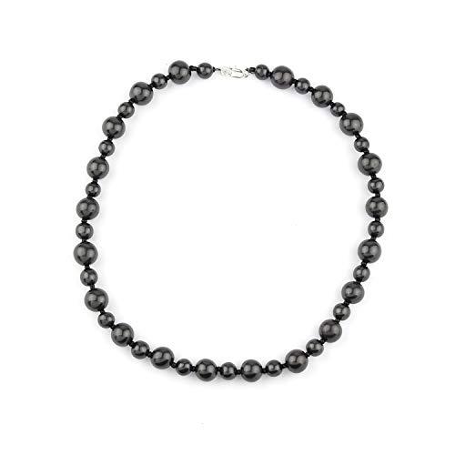 Schungit-Halskette Bella-Stil Schmuck aus Schungit Steinen | Schungit Stein-Halskette von Karelien, Russland | Bella-Stil