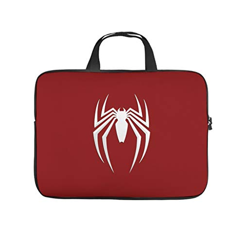 Spider Red Laptop Computer and Tablet Carrying Case Bag Waterproof Portable Zipper Computer Protective Bag for Business&Travel Lightweight for Men and Women White 10inch