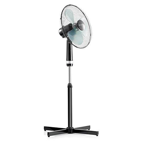 Brandson - Standventilator 45cm Standlüfter - Standfuß höhenverstellbar - hoher Luftdurchsatz - 3 verschiedene Geschwindigkeitsstufen - Oszillationsfunktion ca. 70 Grad - silber schwarz