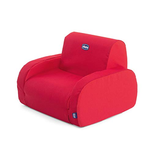 Chicco Twist Kindersessel Umwandelbar in Chaise Longue und Sofa, Kindersessel mit 3 Konfigurationen, Bequem und Leicht, Umwandelbar mit 1 Handgriff - für Kinder ab 12...