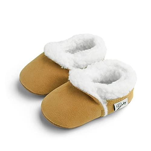 FURONGWANG6777BB Newborn Baby Boy Girl Winter Warm Thread Peluche Botas de Peluche SOBDDLER Soft Soft SELD Anti-Slip Crib Zapatos 0-18m (Color : Y, Shoe Size : 7-12M)