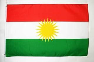 Drapeau Kurdistan Oeillets Haute Qualite, 250cm x 150cm