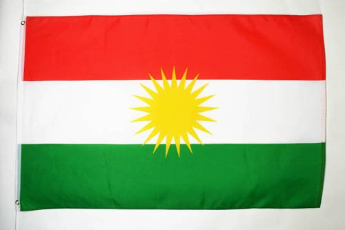 AZ FLAG Flagge Kurdistan 90x60cm - KURDEN Fahne 60 x 90 cm - flaggen Top Qualität