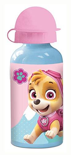 POS 29229 - Trinkflasche mit Paw Patrol Motiv, aus Aluminium, bpa- und phthalatfrei, Fassungsvermögen ca. 400 ml, ideal für Unterwegs, Schule und Sport, für Jungen und Mädchen