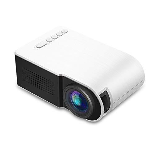 YOLANDE Miniproyector Portátil, LED De 600 Lúmenes, Compatible con Reproducción HD De 1080P, HDMI Y USB De 3,5Mm para Audio, Reproductor Multimedia Doméstico