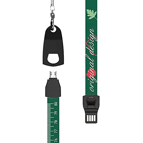 Cargador múltiple micro USB, cable USB de conexión múltiple, cable multi USB 3 en 1 cable de datos multifunción (hierba)