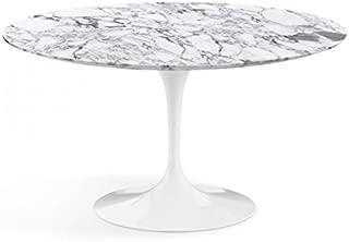 Round Tulip Table (Saarinen) 54 inch (53,94) - Arabescato Vagli Marble - Made in Italy …