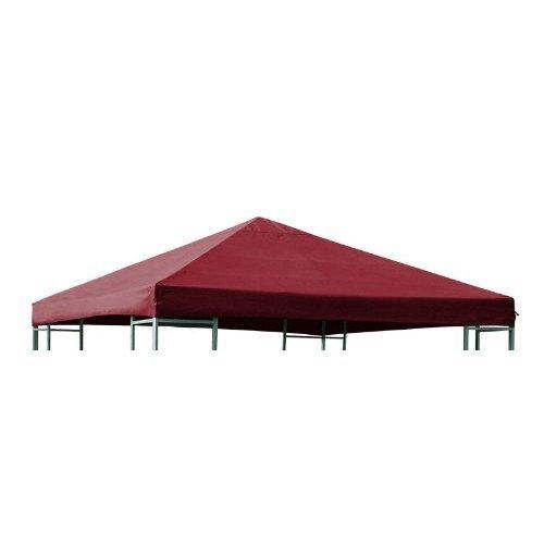 DEGAMO Ersatzdach für Pavillon 3x3 Meter Bordeaux, wasserdicht