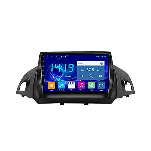 MGYQ 1080P Reproductor Multimedia para Coche Pantalla Tactil, para Ford Kuga 2 Escape 3 2013-2017 con Cámara De Visión Trasera, Soporte Bluetooth FM/Mirror Link/Dab+/OBD2/SWC,Quad Core,WiFi 1+16