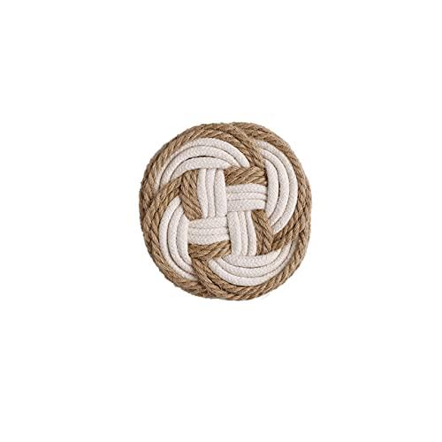 Posavasos Posavasas absorbentes redondas de algodón y ropa de cama tejida de aislamiento de calor de lino MAT de 5 pulgadas Vajilla antideslizante Estilo simple Simple con todo tipo de tazas de agua (