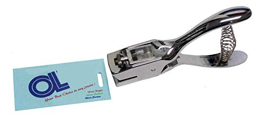 Oval (Slotted) Hole Punch for attachments on Id Cards & Badges (Hole: 15mm x 3mm) Hand Held