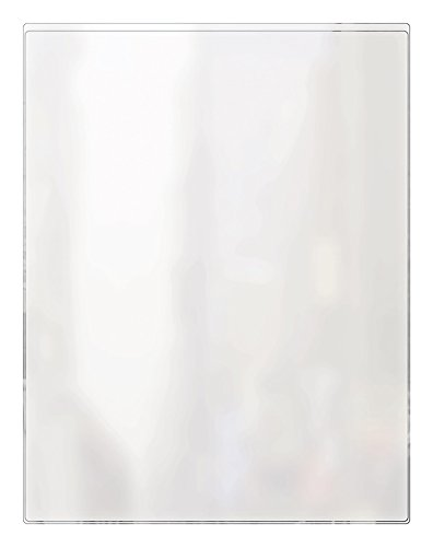 Risch 100 8.5X11 Heat Sealed Vinyl Menu Cover Single Pocket 2 View, All Clear, 8.5