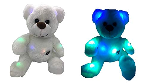 led Induktive Teddybär Kuscheltiere Plüschtier Bunt Leuchtend Teddybär Spielzeug Geschenke für Schlafzimmer Kinder Weihnachten