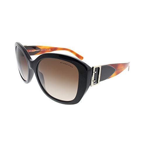 BURBERRY 0Be4248 363713 57 Gafas de sol, Negro (Black/Brown), Mujer