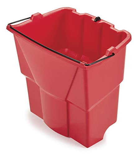 Rubbermaid Commercial Products FG9C7400RED Dirty Water Bucket for WaveBrake 2.0 35 Qt. Mop Bucket System, 18-Quart Capacity, Red, (2064907)