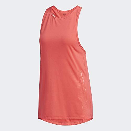adidas W D2m Brand Tk Tank, Mujer, Core Pink/Core Pink, S