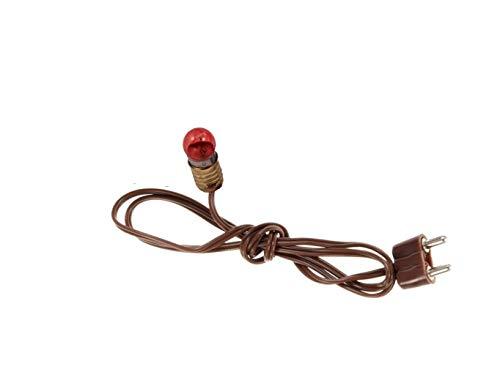 Ferrari & Arrighetti Casquillo adaptable con Cable, Enchufe y Bombilla roja 3,5 V - Colección Bertoni