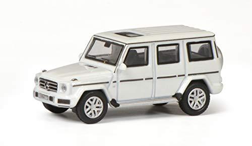 Schuco 452639700 452639700-Mercedes Benz G-Klasse, Modellauto, 1:87, Diamant-weiß Modellfahrzeug