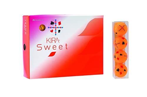 キャスコ(Kasco) ゴルフボール レディース KIRA SWEET トランプ柄 1ダース(12個入り) トランプオレンジ
