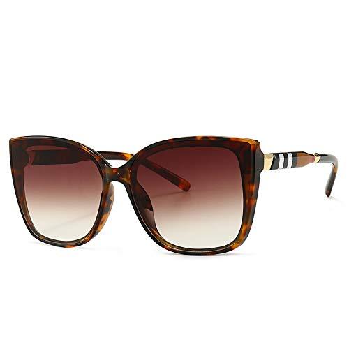 NBJSL Gafas de sol con diseño escocés de ojo de gato Gafas de sol de moda para mujer Embalaje de regalo exquisito