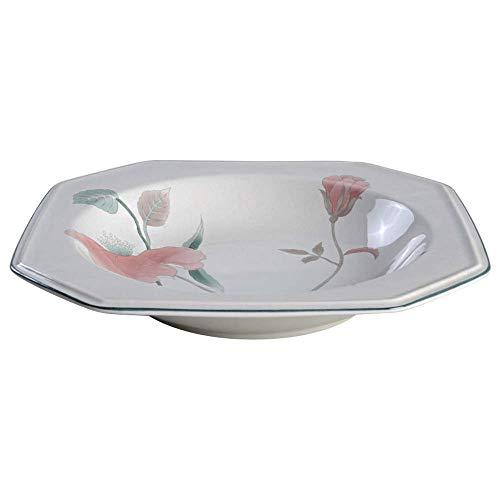 Mikasa - Cuenco para sopa (porcelana), diseño de flores de seda