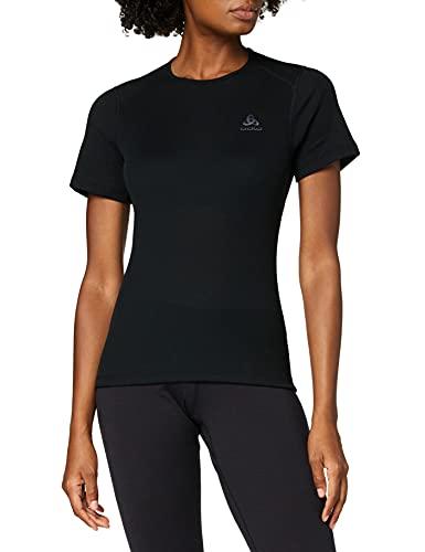 Odlo Originals Warm T-Shirt chaud col rond manches courtes femme Noir Taille Fabricant : XS