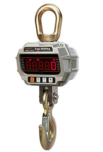 Hanchen Balanza de Grúa Digital 2000kg Báscula de Grúa Industrial OCS-X con Gancho Resistente