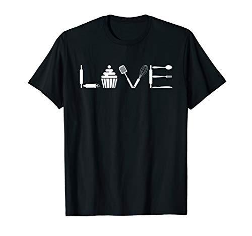 Love Baking T-Shirt Cupcakes Baker Shirt Pastry Lover Gift T-Shirt