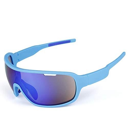 WangWLT Gafas de sol polarizadas deportivas para hombre y mujer, para montar y correr, color azul