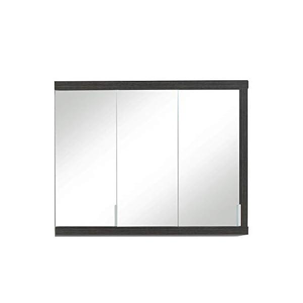Trendteam Mueble Armario con espejo 1 puerta, Madera, Blanco, 62 x 80 x 25 cm