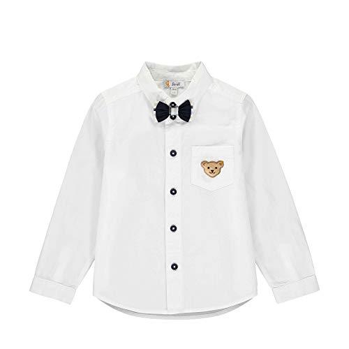 Steiff Jungen Langarm Hemd, Weiß (Bright White 1000), 98 (Herstellergröße: 098)