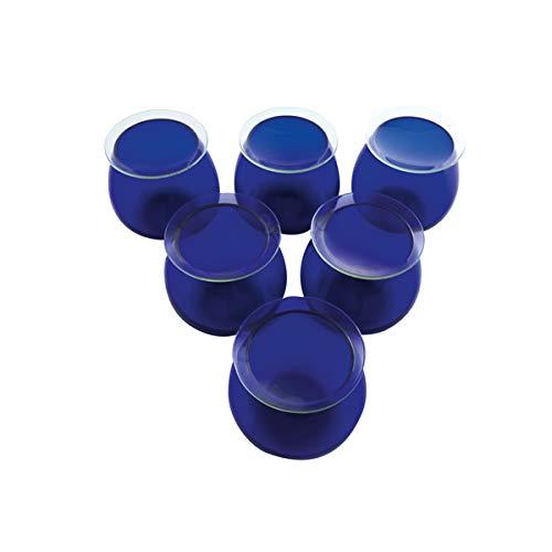 KENZIUM - Pack de 6 Vasos y 10 Vidrios Para Cata de Aceites de Oliva | Dimensiones de las Copas Según la Normativa Consejo Oleícola Internacional, de Laboratorio