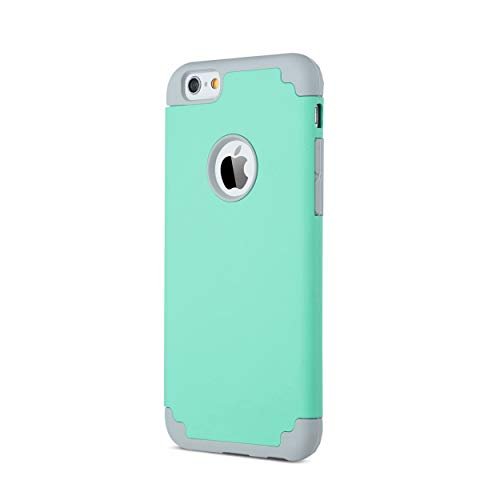 Ailun Phone Case for iPhone 6s iPhone 6 Soft Interior Silicone Bumper Hard Shell Solid PC Back Shock-Absorption Skid-Proof Anti-Scratch Hybrid Dual Layer Slim Cover Green