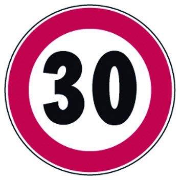 Verkehrszeichen Verbot Grenze Vel 30km/h