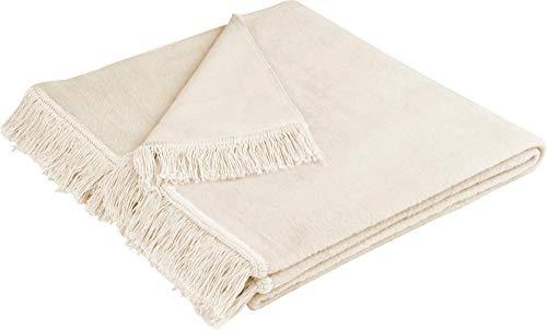 biederlack Wohndecke Cover Cotton | Natur - 50 x 200