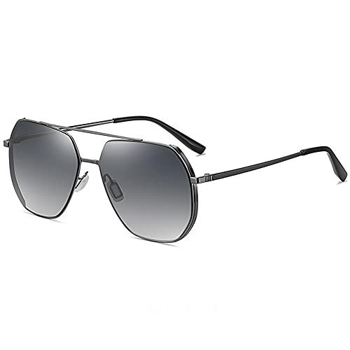 TTWLJJ Gafas de Sol Deportivas polarizadas para, Gafas de Sol para Conductores, Anti UV Ciclismo MTB Running Coche Moto Montaña,Gris