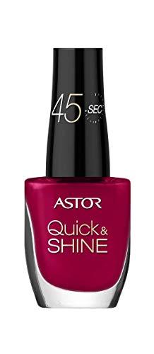 Astor Quick & Shine Nagellack schnelltrocknend und mit Hochglanz-Finish, Farbe 542 Playful Red...