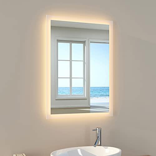 EMKE Wandspiegel Badspiegel 50x70cm LED Badezimmerspiegel