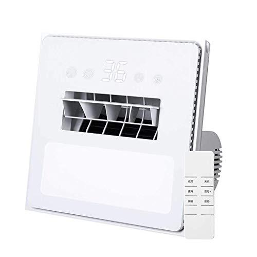 ZYING Ventilador de baño de Escape/luz de Borde Regulable, Ventilador montado en el Techo, Blanco/Crema, Ventilador de baño direccionalmente Ajustable