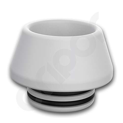 Garvis Delrin (POM) Drip Tip 810 Smok Anschluss für TFV8 & TFV12 Mundstück Derlin (Weiß)