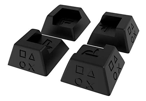 Kit 4x Suporte Universal Playstation Ps4 Slim Pro Fat Kit Pé ( PRETO )