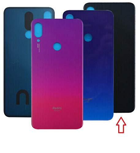 Tapa Batería para Xiaomi Redmi Note 7 / Note 7 Pro / M1901F7G Color Negro Espacio/Azul Neptuno/Rojo Nebulosa Cristal Trasero Cubierta Trasera (Negro Espacio)